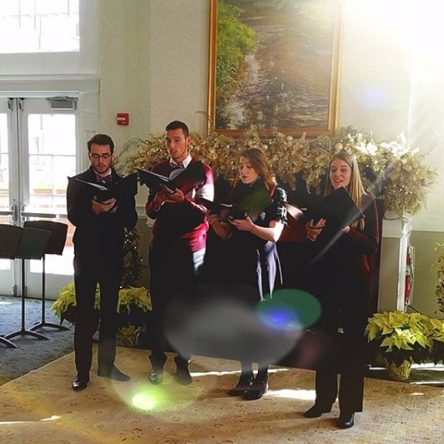 Vocal students kick off a week of Christmas Concerts at Carnegie Alumni Center, showcasing student talent, community engagement, and music of this blessed season. Concerts begin at 12:15 p.m. each day this week.